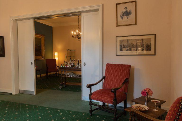 Durchblick Bismarckzimmer mit Schiebetüren