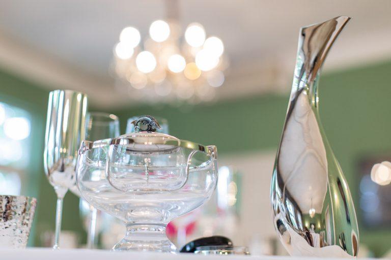 Impression Tischdeko mit Silberkaraffe Robbe und Berking
