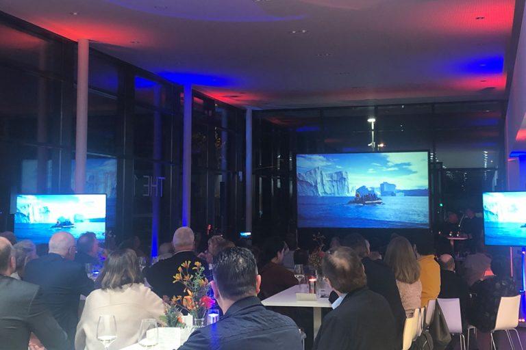 Firmencatering für Hapag Lloyd Cruises mit Filmvorführung Expedition